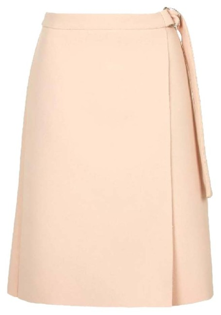 Topshop Crepe D Ring Skirt pink