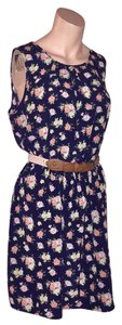 by&by short dress Floral on navy on Tradesy
