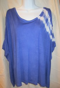 bebe Casual Cut-out Slouchy Tie Dye Tunic