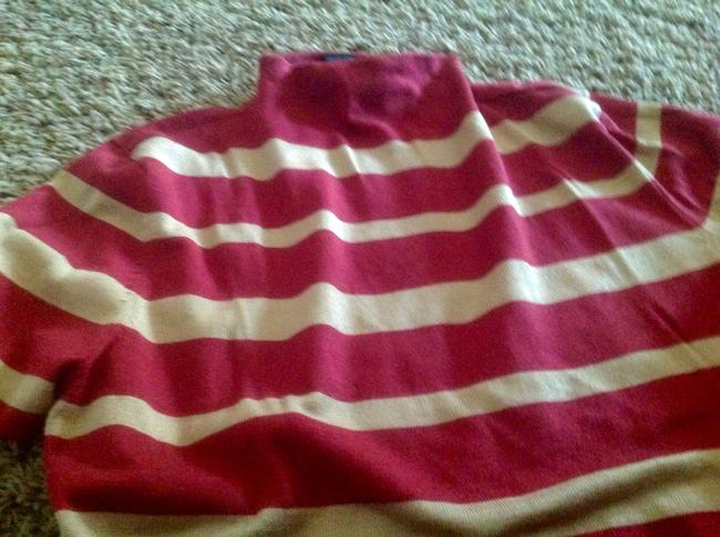 The Limited Biege Stripe Short Sleeve New York Co Sweater