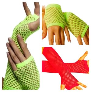 Other Bundle of 3 neon fishnet gloves