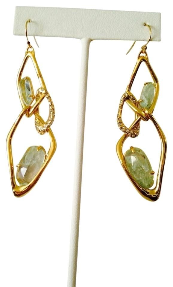 Alexis Bittar Elements Crystal Studded Spur Trimmed Ite Dangling Earrings