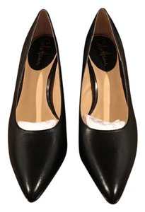Cole Haan All Leather Square Toes Padded Insoles Nikeair Comfort Black Pumps