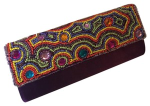 hand beaded from India Clutch