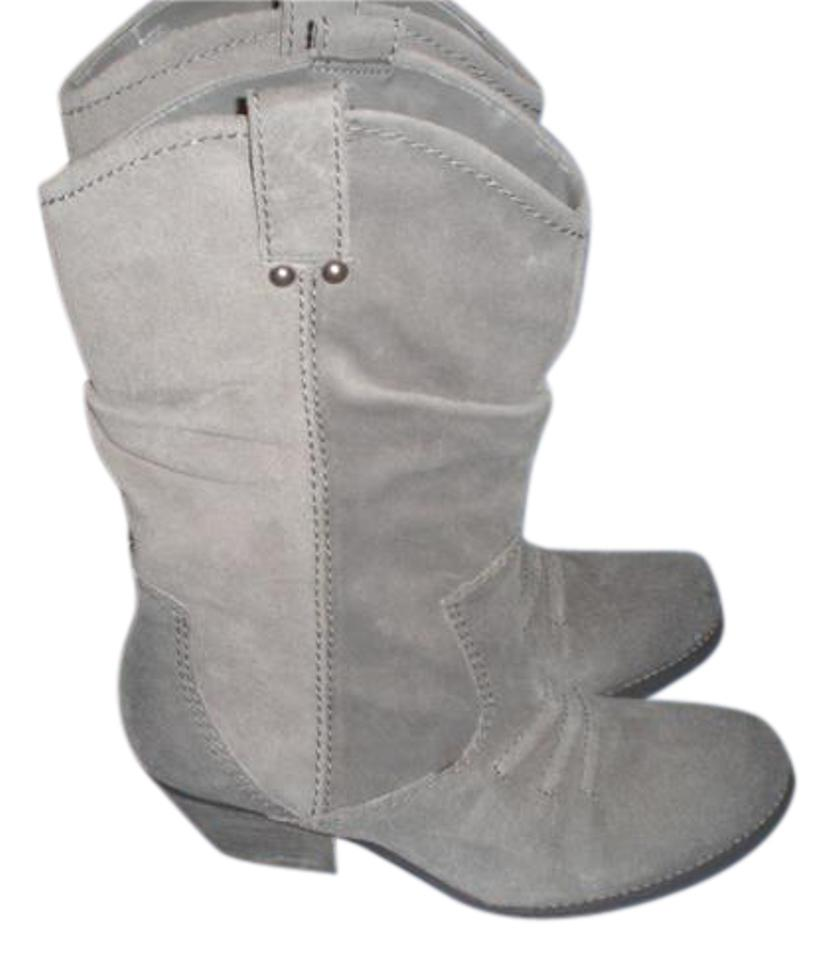 WOMEN Gray BCBGeneration Gray WOMEN Bcbg-generation-mid-calf-leather-boots-with-studs-taupe-size-8-5-m Boots/Booties Price reduction 73728e