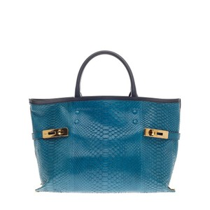 Chloé Charlotte Python Tote in Blue