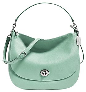 Coach Turnlock Seagrass F36762 Hobo Bag
