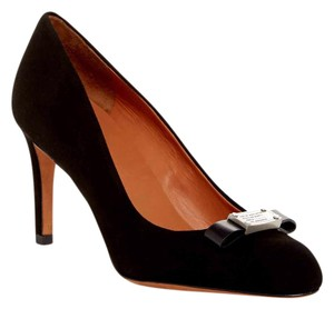 Marc by Marc Jacobs Work Suede Classic Bow Black Pumps