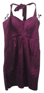 City Triangles short dress Plum Halter on Tradesy