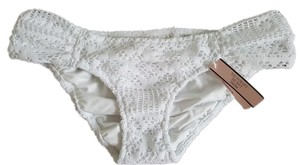 Victoria's Secret NEW Victorias Secret Swimwear lace floral flower Bikini Bottom white M