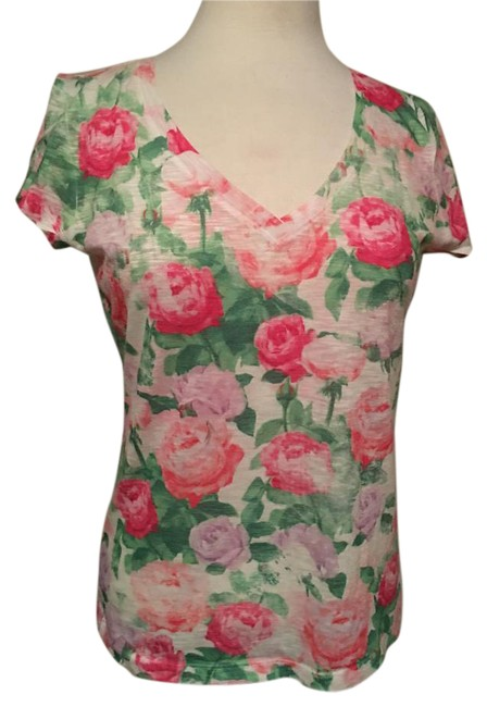 Preload https://img-static.tradesy.com/item/20611295/aeropostale-floral-neck-cap-sleeve-polyester-nwot-tee-shirt-size-12-l-0-1-650-650.jpg