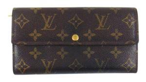 Louis Vuitton Sarah Monogram Canvas Leather Clutch Wallet USA