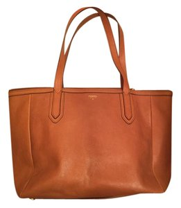 Fossil Leather Professional Tote in Camel