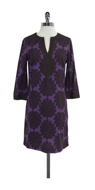 Preload https://img-static.tradesy.com/item/20611416/tory-burch-purple-and-olive-floral-cotton-short-casual-dress-size-4-s-0-0-650-650.jpg
