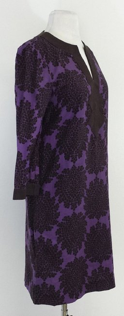Tory Burch short dress Purple & Olive Floral Cotton on Tradesy
