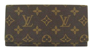 Louis Vuitton Vintage Monogram Canvas Leather Porte-Yen Long Bill Receipt Wallet
