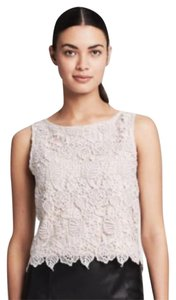 Banana Republic Cropped Lace Floral Top White