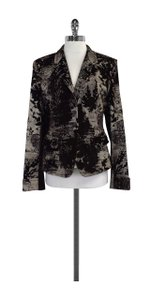 René Lezard Print Velvet Brown & Cream Jacket
