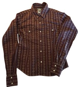 The North Face Snaps Shirt Cotton Top Brown