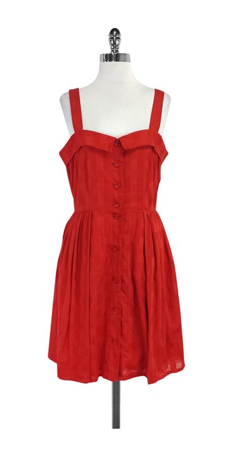 Preload https://img-static.tradesy.com/item/20611651/marc-by-marc-jacobs-red-plaid-sleeveless-short-casual-dress-size-10-m-0-0-650-650.jpg