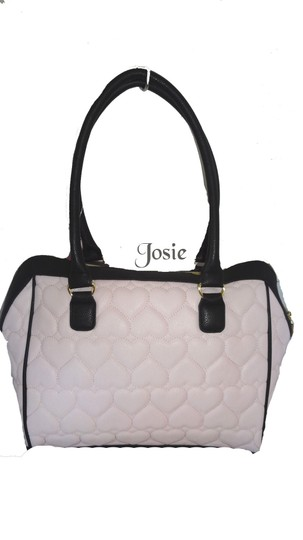 Betsey Johnson Quilted Heart Satchel in Blush