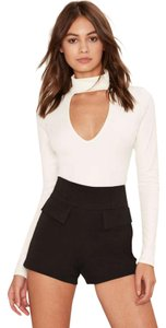 Nasty Gal High-waisted Fitted Structured Mini/Short Shorts Black