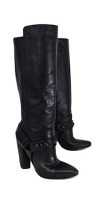 Modern Vintage Black Leather Boots