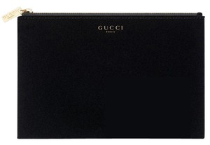 a4935029eb15 Added to Shopping Bag. Gucci Gucci Beauty Black Gold Cosmetic Makeup Pouch  velvet clutch
