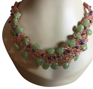 creative designs by appealinglady Jade copper non-toxic crotchet wire Unique Hipster design