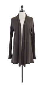Vince Light Brown Cashmere Open Front Cardigan