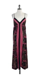 Maxi Dress by Hale Bob Black Pink Taupe Silk Maxi