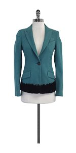 Piazza Sempione Teal Black Wool Jacket