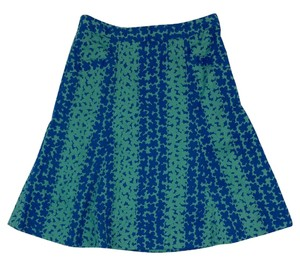 Marc Jacobs Blue & Green Floral Print Skirt