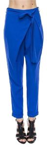 Other Fashion Tie Waist Loose Trouser Pants Royal Blue
