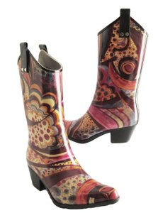 Nomad Footwear Rubber Rain Western Cowgirl Multicolor Boots
