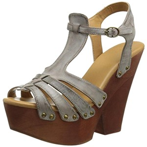 Mojo Moxy Coachella Distressed Gennuine Leather New With Box Ultra High Brown Platforms