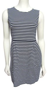 Kate Spade short dress blue white Navy S 4 Striped Gold Kellie Sheath Knee Viscose Small New York on Tradesy