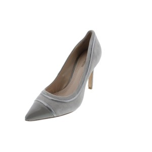 Pour La Victoire Nirvana Genuine Leather Toe Cap Genuine Suede Dove Gray Gray, Silver Pumps