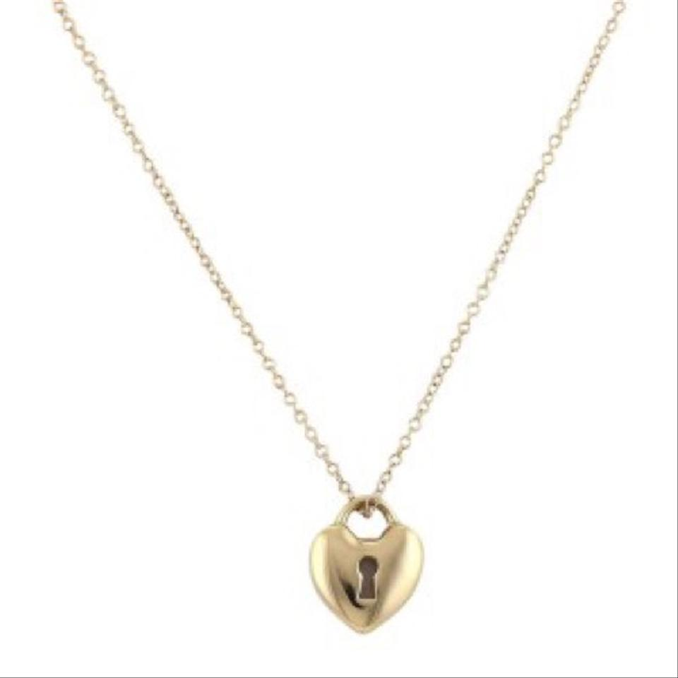 Tiffany Amp Co 18k Gold Heart Lock Pendant And Chain