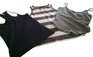 Gap The And Express Bundle Of One Price For Three Top Brown biege, green, black