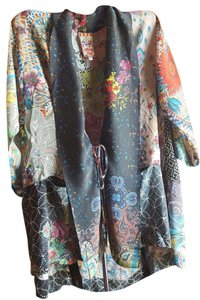 Johnny Was Romantic Vintage Inspired Boho Tie Front Tunic