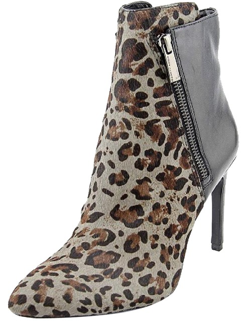 Item - Multi Grey and Black Chantel 7.5m Leather Leopard Print Boots/Booties Size US 7.5 Regular (M, B)