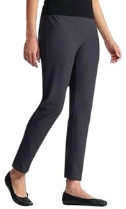 Eileen Fisher Washable Crepe Pull Capris GRAPHITE
