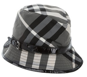 Burberry Grey, white multicolor Burberry Beat Check print bucket hat L