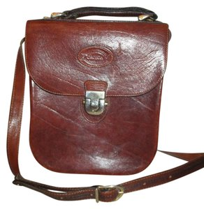 Oroton Vintage Leather Cowhide Cross Body Bag