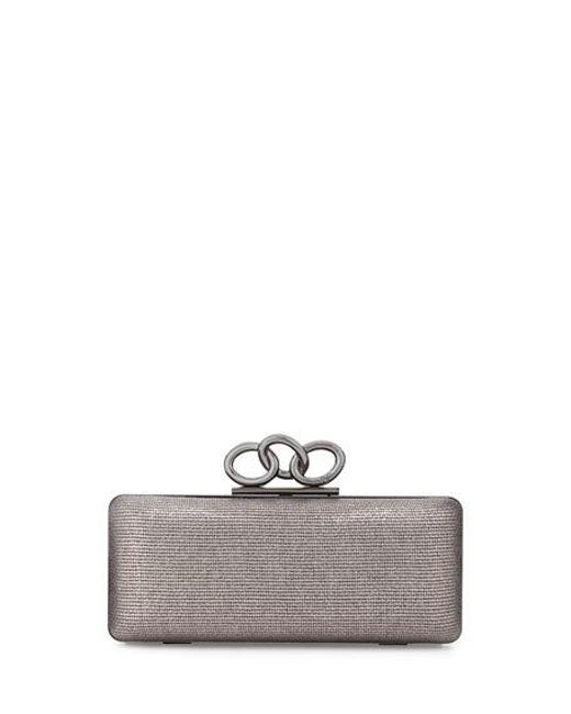 Item - Sutra Silver/Gray Canvas Clutch