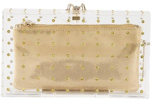Charlotte Olympia Transparent Gold Clutch