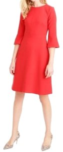 J.Crew Bell Sleeve Crepe Geniune A-line Dress