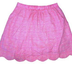 Lilly Pulitzer Mini Skirt neon Pink white