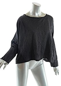 Shirin Guild Metallic Linen Blend Crop Sweater